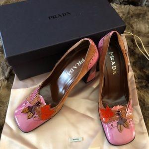 PRADA Vintage Acorn & Oakleaf Heels